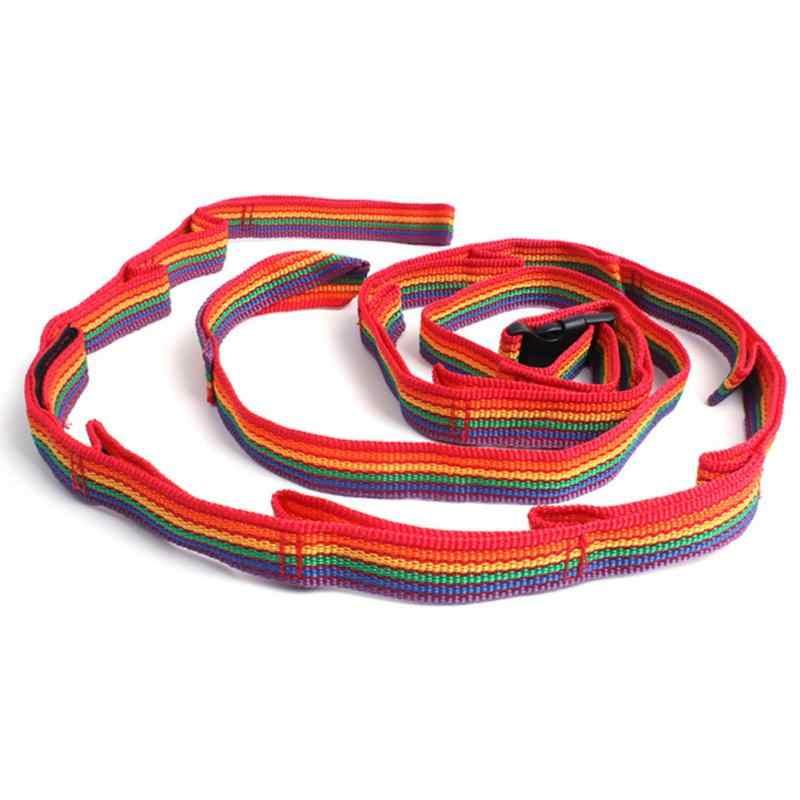 Colorido Cordão Sling Varal Tenda Camada Dupla Roupas Corda com Saco de Acampamento Ao Ar Livre