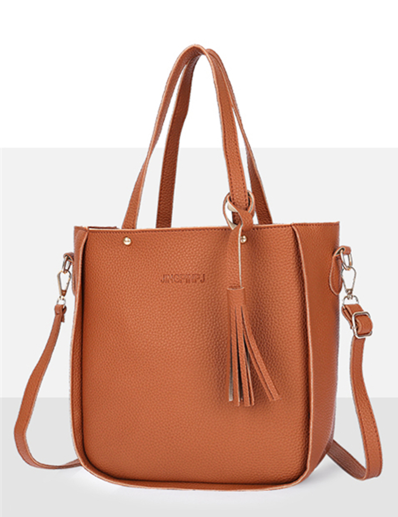 HTB1jdvCXHsTMeJjy1zbq6AhlVXaP - Women Bag Set Top-Handle Big Capacity Female Tassel Handbag Fashion Shoulder Bag Purse Ladies PU Leather Crossbody Bag
