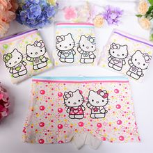 3pcs lot Hello Kitty Cartoon Children Underwear Soft Cotton Girl Panties Boxer Baby Kids Briefs Children