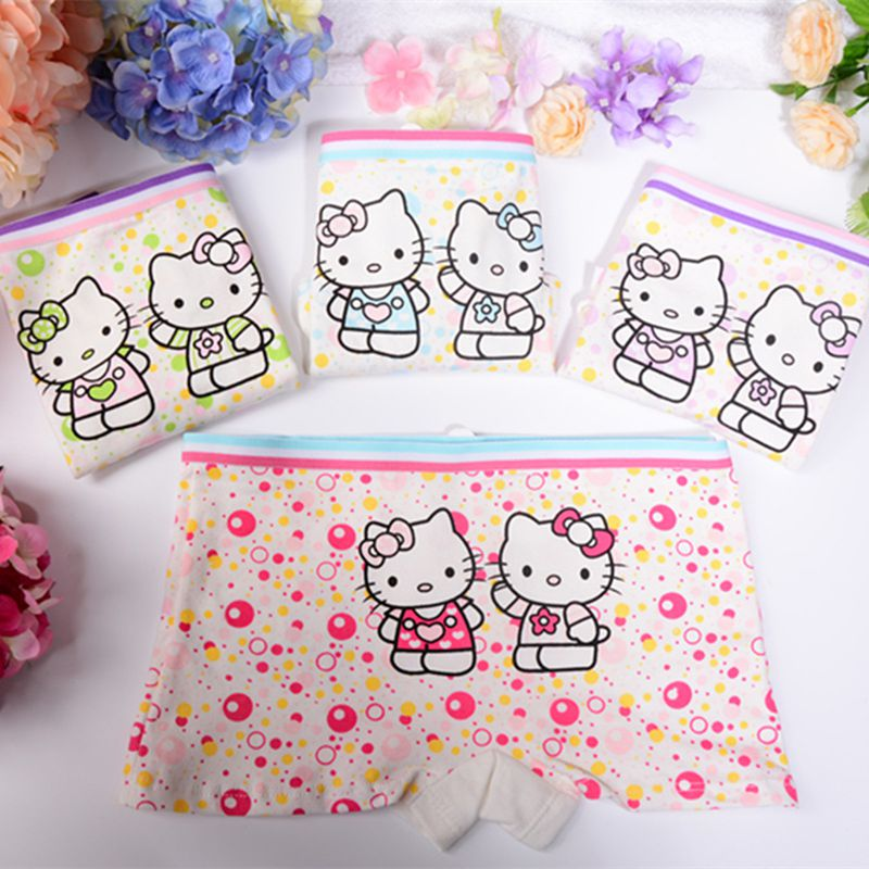 3pcs lot Hello Kitty Cartoon Children Underwear Soft Cotton Girl Panties Boxer Baby font b Kids
