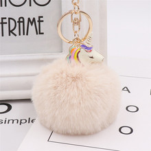 Fur Ball Unicorn Key Ring