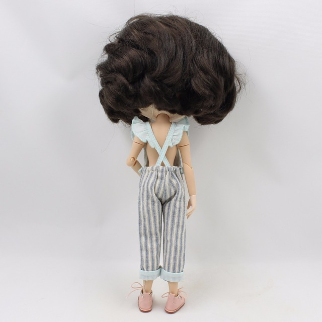 Neo Blythe Doll Stripe Overalls Backless Suit