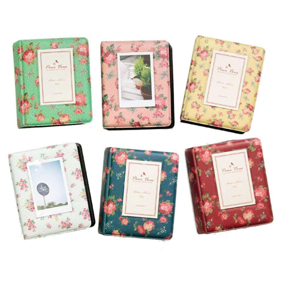 64 Pockets Flower Photo Film Album Wedding for 3 Inch Fujifilm Instax Mini 9 8 7s 70 90 Instant Polaroid Camera Name Card Album
