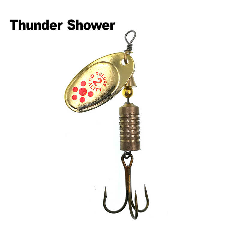 ThunderShower 1PCS Pailletten Löffel Wobbler Haken Angeln Lockt Spinner Köder Swimbait Angeln Tackle