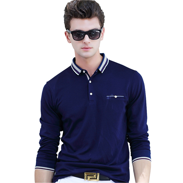 Casual Polo Shirt Men Fashion Long-Sleeved Men's Polos New Arrival Polo Shirts Man Hot-Sale Autumn&Spring Shirt Slim Polos