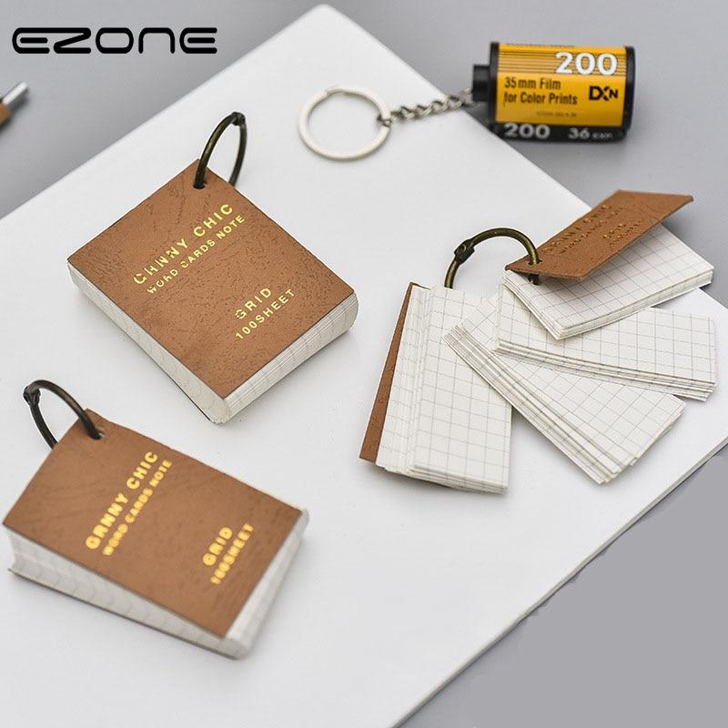 ezone iron ring memo pad vintage style notebook creative