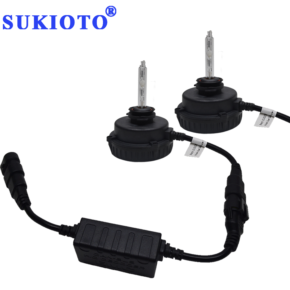 SUKIOTO No Error CANBUS HID KIT 55W 9012 HIR2 bixenon Headlight Bulbs Zafira Tourer Insignia 9012 HIR2 hid Projector lens bulb sukioto no error 55w canbus hid xenon kit 9012 hir2 bulbs for gl8 regal envision verano headlight 9012 bixenon projector lens