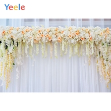Yeele Pink Flower Wedding Photography Backdrops Curtain Baby Kids Birthday Party Photo Backgrounds Photocall For Studio