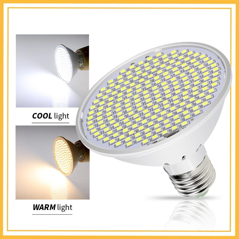 E27 LED Spotlight Bulb 15W 20W High Power LED Light Bulb 126 200LEDS Corn Lamp Spot Light 2835 Smart IC No Flicker AC85-265V