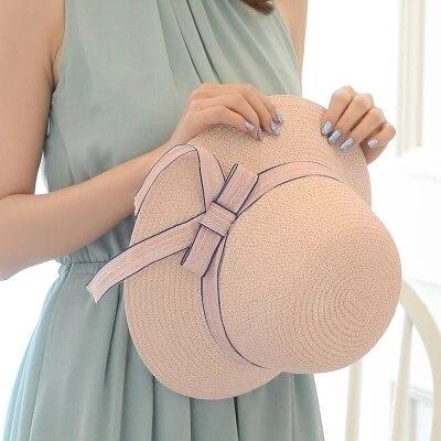 Cappello di paglia di estate della ragazza piccolo fresco cappello da sole Crema Solare versione Coreana cappello della spiaggia centinaia di cappello.