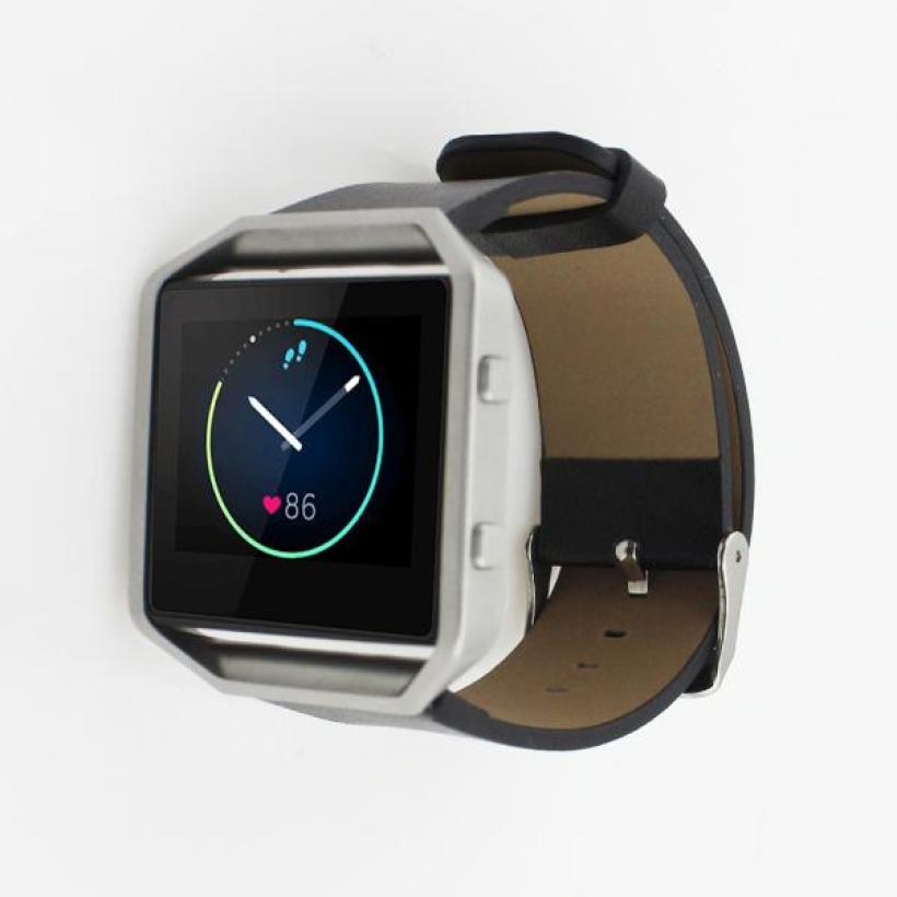 Superior Luxury Leather Watch band Wrist strap For Fitbit Blaze Smart Watch Mar10** superior nylon watch band wrist strap steel metal frame for fitbit blaze smart watch dec 12
