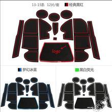 Car styling  for kuga accessories 12pcs/set For Ford kuga Escape 2013 2014 2014 3d Rubber car anti slip mat, non-slip door mat