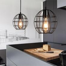 Vintage Pendant Light American Country Style Industrial Loft Lamps Iron Cage LED Pendant Lamp Hanging Lights Bar Cafe Restaurant