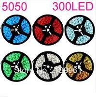 5m/lot DC12V 5050 SMD 60Led/m White/Red/Yellow/Blue/Green/RGB Waterproof Led Strip ip65