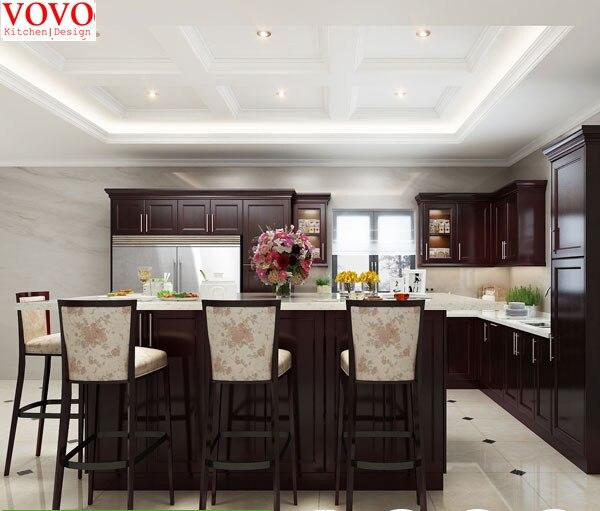 In legno massello di noce mobili da cucina in In legno massello di ...