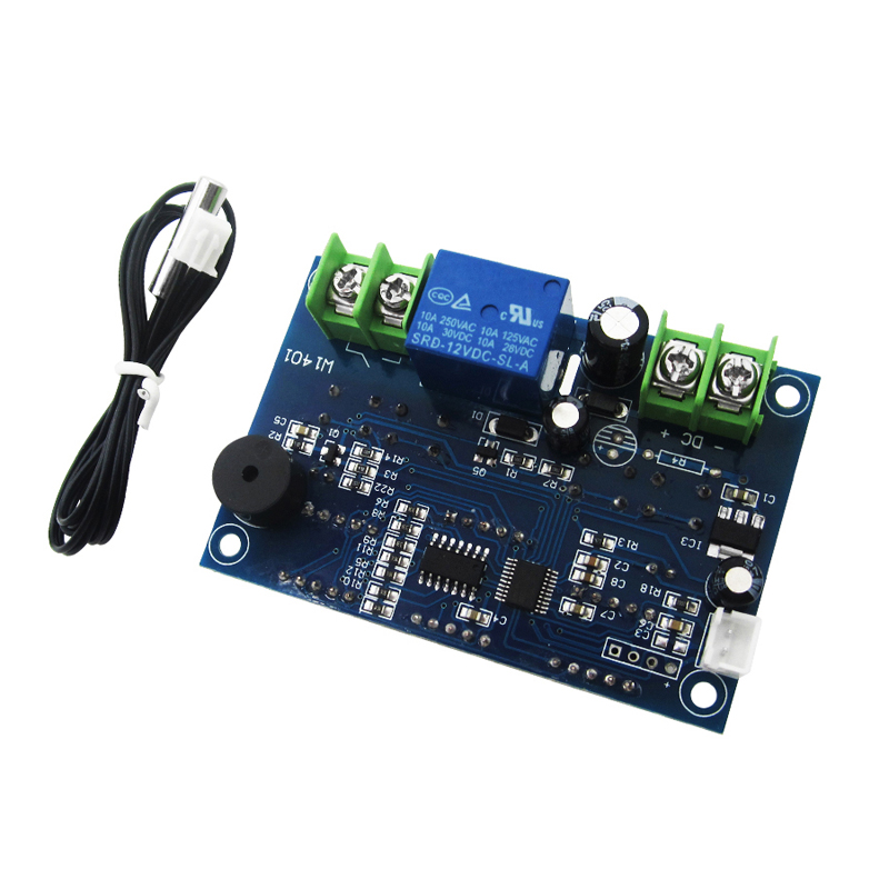 1pcs DC12V thermostat Intelligent digital thermostat temperature controller With <font><b>NTC</b></font> <font><b>sensor</b></font> <font><b>W1401</b></font> led display image