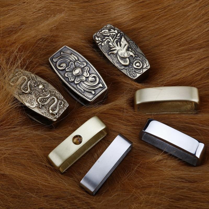 2pcs 40/35mm Metal Belt Loop Buckle Ring DIY Leather Craft Keeper Jeans Belt Accessories For 3.2-3.9cm Belts Stainless Steel
