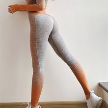 ba77b8637eb91 Amplify Seamless Leggings For Women Gym Tummy Control Outfits Trousers High  Waisted Yoga Pants Ombre Stripe