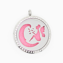 Moon Fairy Magnetic Perfume Locket With Crystal Essential Oils Stainless Steel Diffuser 10pcs