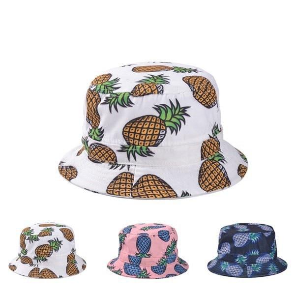 737655e5 pineapple gorras casquette hip hop men fishing hat emoji bucket hat touca  fisherman pesca sun hats fashion bucket caps bone