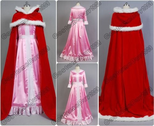 Beauty and The Beast Belle Pink Dress Cosplay Costume Custom Made Women Party Long Dresses