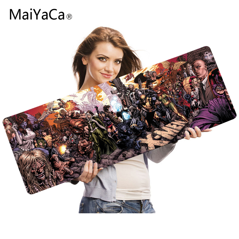 MaiYaCa 2018 New X-men Mouse Pad Pad To Mouse Notbook Computer Mousepad Overlock Edge Big Gaming Padmouse Gamer To Laptop Mouse