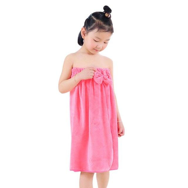 92ef8284f6ff1 US $7.48 42% OFF|1pc Child Bathrobe Kids Robes Girls Hooded Towel Bathrobe  Kids Bath Robes Robe for Children Girls Robe Pajamas Sleepwear -in Robes ...