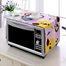 Modern Cartoon Cotton Microwave Oven Furniture Electrical Waterproof Dustproof Tablecloth Multi-pocket Cover Cloth Hanging Bag