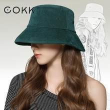 COKK 2018 New Fashion Bucket Hat Women Autumn Winter Hats For Women Men  Unisex Fishing Hat 6841d3fab81