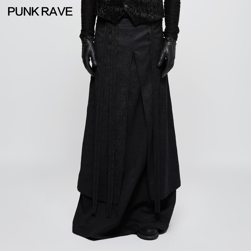 be4ab7dae Aliexpress.com: Comprar Punk Rave gótico largo Mens media falda, estilo  nuevo, Cosplay negro visual kei, Q340 de fashion man skirt fiable  proveedores ...