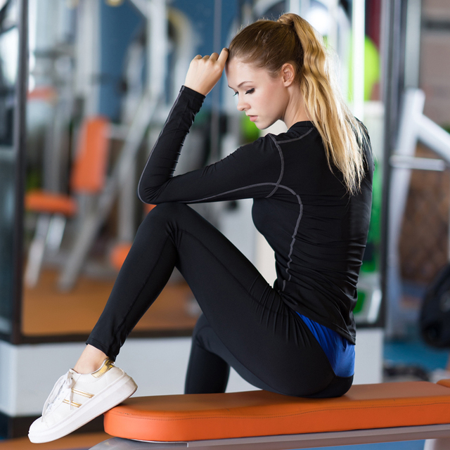 Ladies Quick Drying Long Sleeve Fitness Top 5