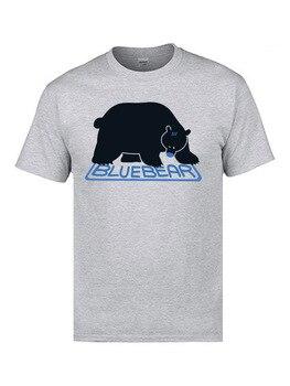 Blue Bear White Fashion 3D T Shirt Print Plain Designers Bear Tshirt Men Hip Hop
