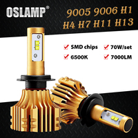 Oslamp H13 H4 Led Headlight Kits 6500K Led SMD Chips 9005/HB3 9006/HB4 Led H1 H7 Car Bulbs 70W 7000LM H8/H11 Led Auto Fog Lamps