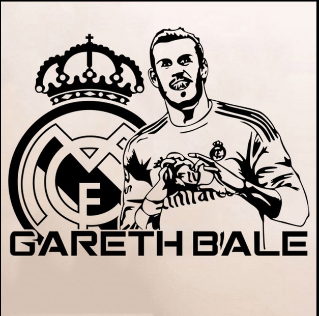 gareth bale vinyl wall sticker real madrid fc footballer mural decal