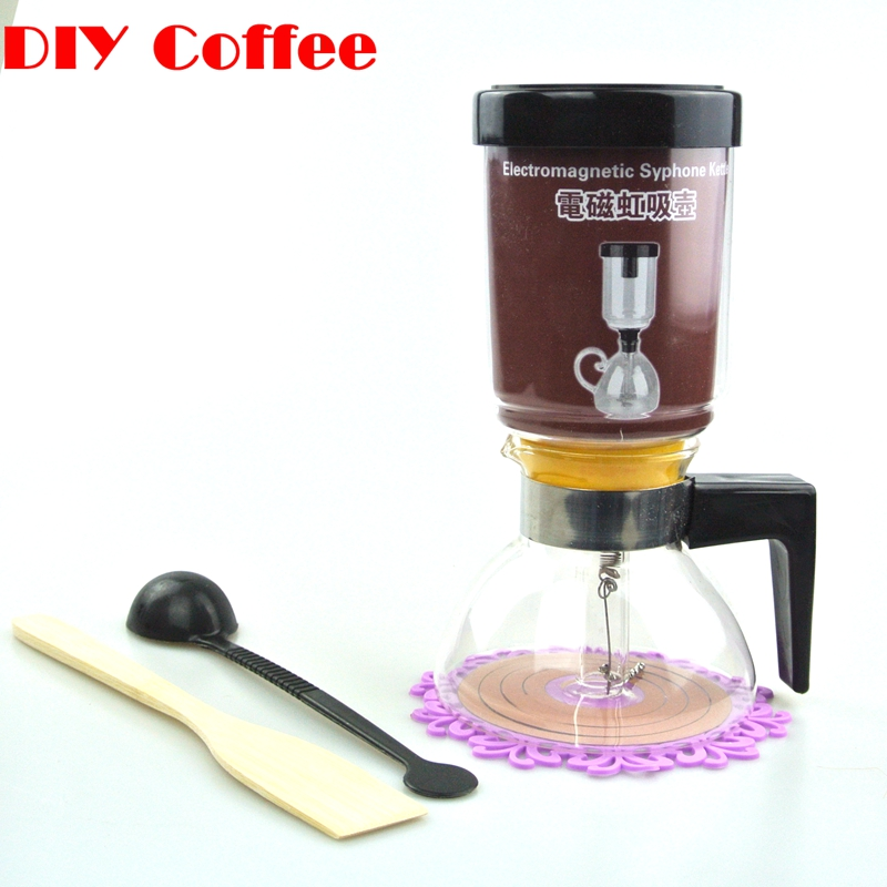 1PC High quality 3-5 cups tea siphon glass percolator coffee maker Electromagnetic Syphon Kettle