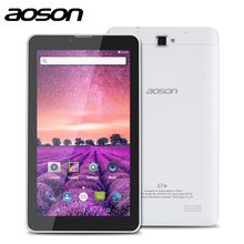 AOSON S7+ 7 inch 3G Unlocked Smart phone Tablet PC Android 7.0 MTK8321 16GB Quad Core IPS 1024*600 1G+16G GPS Bluetooth SIM CARD