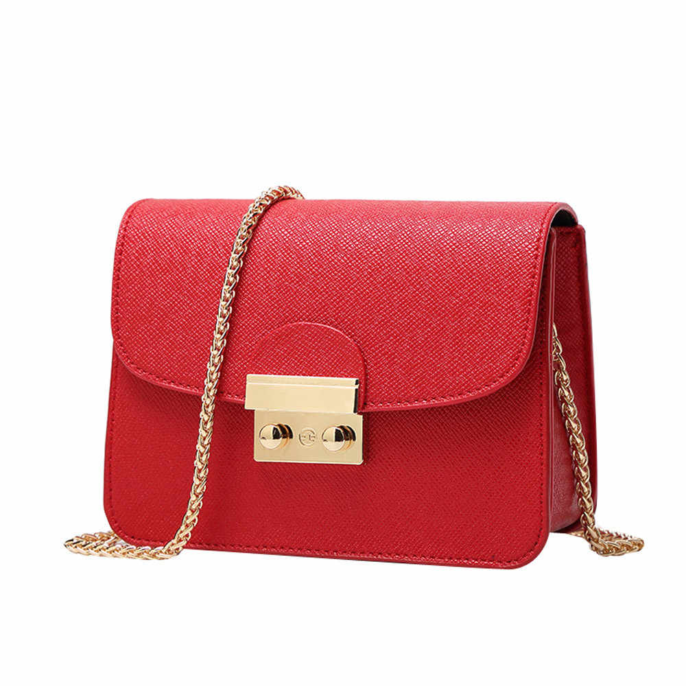 designer brand bags women leather handbags Chain Solid Shoulder Bag mini bags Woman Messenger Bag purses and handbags #Zer