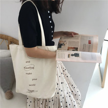 цена на Literary teen Street Pat graffiti alphabet simple single shoulder bag canvas schoolgirl bag portable green shopping bag Tide man