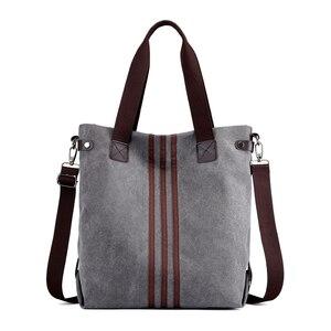 Image 1 - Nieuwe Eenvoudige Grote Capaciteit Ontwerp Canvas Vrouwen Messenger Bag Mode Meisjes Handtas Schoudertas Dagelijkse Boodschappentas