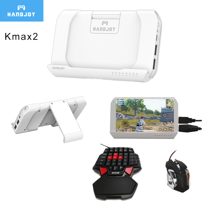 Handjoy Kmax 2.0 Gun Throne Bluetooth PUBG Mobile Keyboard Mouse Adapter Gamepad Controller Fire