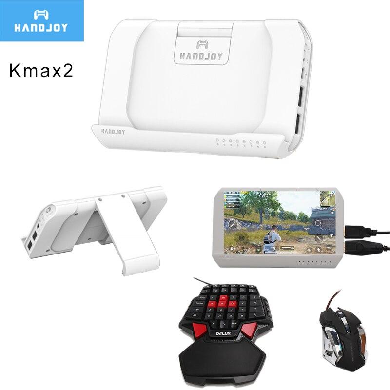 Handjoy Kmax 2.0 Gun Throne Bluetooth PUBG Mobile Keyboard Mouse Adapter Gamepad Controller Fire Aim Assist Tool for PUBG Game