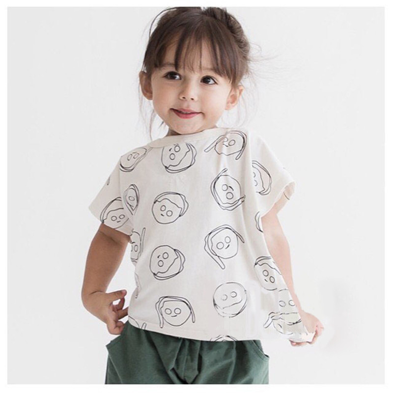 Bobo Choses Style Girls Top Boys Tshirts Shorts Sleeve Summer Kids Tee Cotton Toddler Baby Girls Boys Clothes