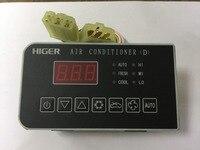 O envio gratuito de Peças De Ar Condicionado de Ônibus 24 V Higer bus 08042 D sistema de Ar condicionado thermo painel de controle do clima|panel|panel control|panel air conditioner -