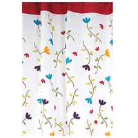 Practical Boutique Shower Curtain Waterproof Bathroom Mold Orchid Width 180 Cm Height 180 Cm