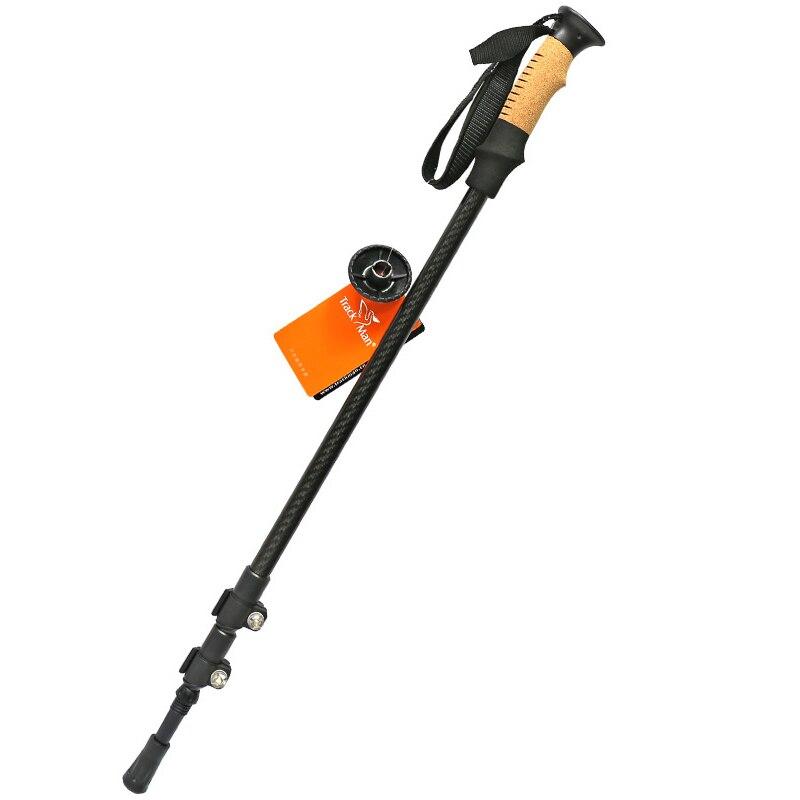 mikado nsc pole 800 без колец carbon Carbon Fibre Telescopic Adjustable Trekking Pole Climbing Stick Scalable Crutch - TM6708