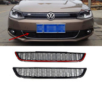 Front Bumper Lower Air Guide Vents Grille Car Spoiler For VW Jetta MK6 Grills 2011 2015