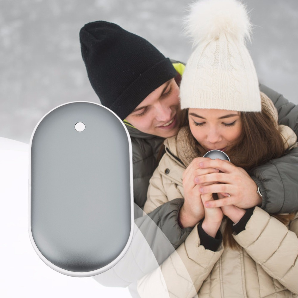 Pocket Heater Hand Warmer Portable Mobile Power Supply Macarons Double Heating Aluminum Alloy Mobile Phone Charging Treasure