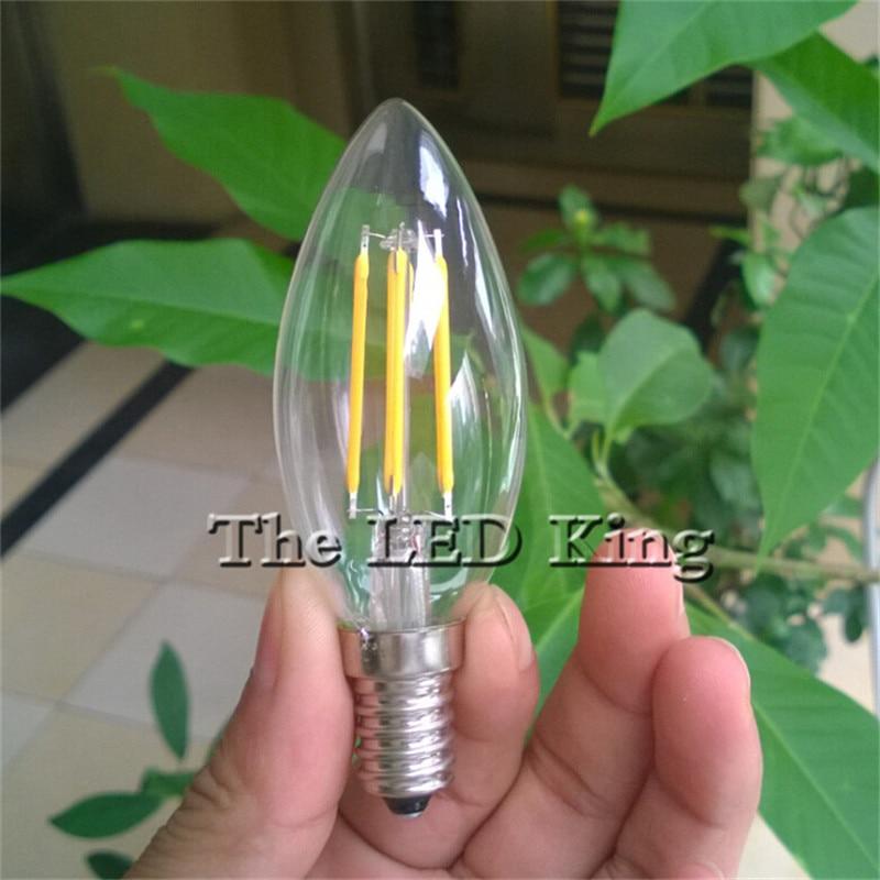 10 шт. затемняемый Ретро E14 Светодиодный светильник накаливания Bombilla светодиодный E27 220V-240V /6w/18w/12w C35 C35L E27 Edison светодиодный светильник