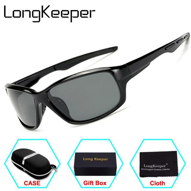f5fe6f025dc LongKeeper Mens Sunglasses Polarized Sunglasses men Brand Sports boating Driving  Glasses Goggles Reduce Glare With Original Box