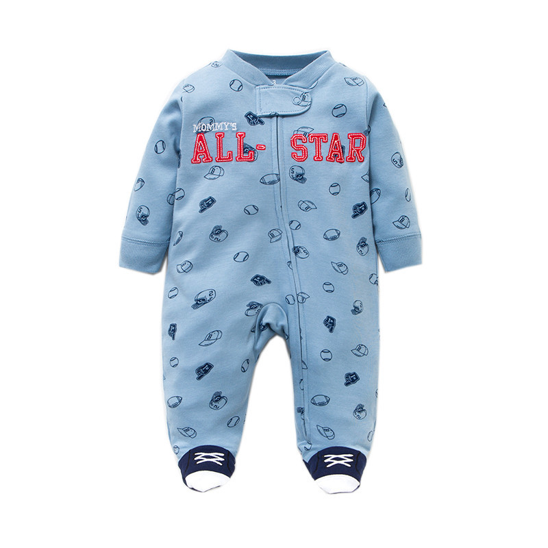 HTB1je.ZD4SYBuNjSsphq6zGvVXaf Newborn baby pajamas unicorn cotton romper boys clothes overalls romper infants bebes jumpsuit premature infant baby clothes